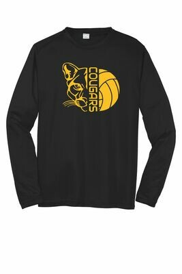 Cougar Volleyball Moisture Wicking Long Sleeves