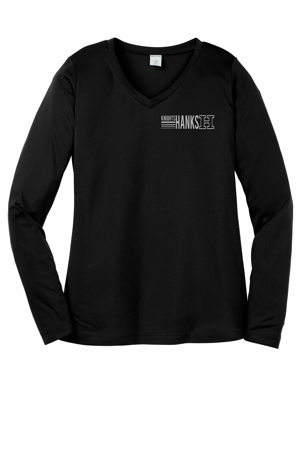 NEW! Line Logo Ladies Moisture Wicking Long Sleeve