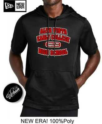 Alta Vista Black Poly Short Sleeve hoodie