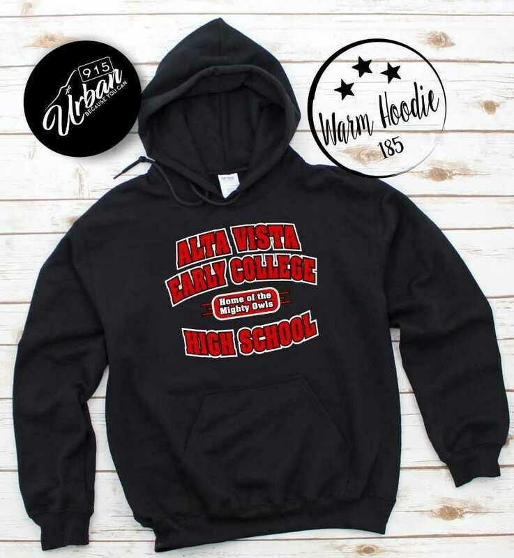 Alta Vista Black Heavy Hoodie