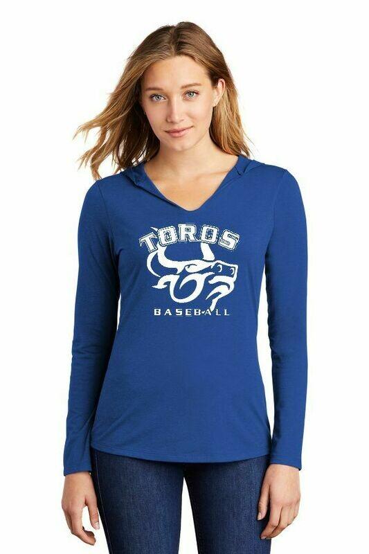 Toro Ladies Royal Team soft V- hooded shirt