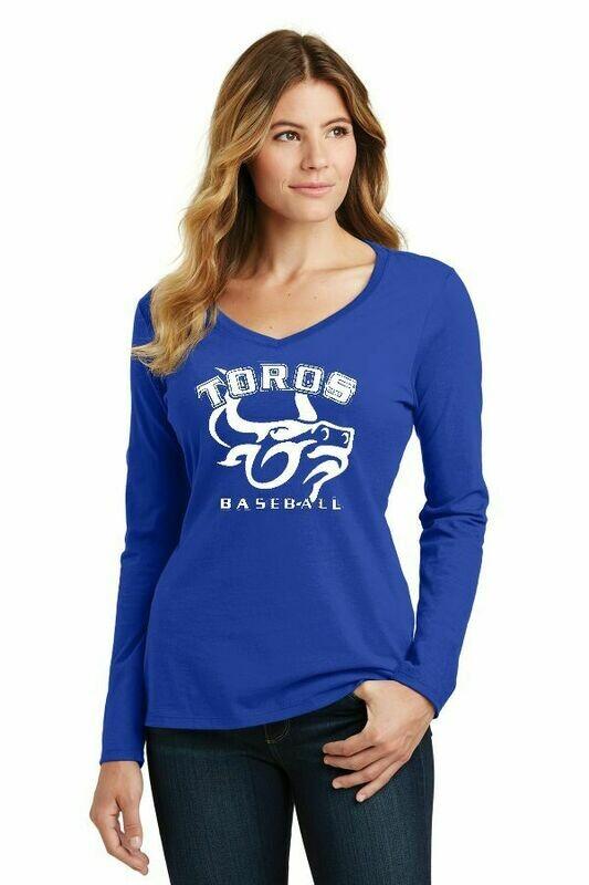 Toro Ladies Royal Team soft V- Long sleeve