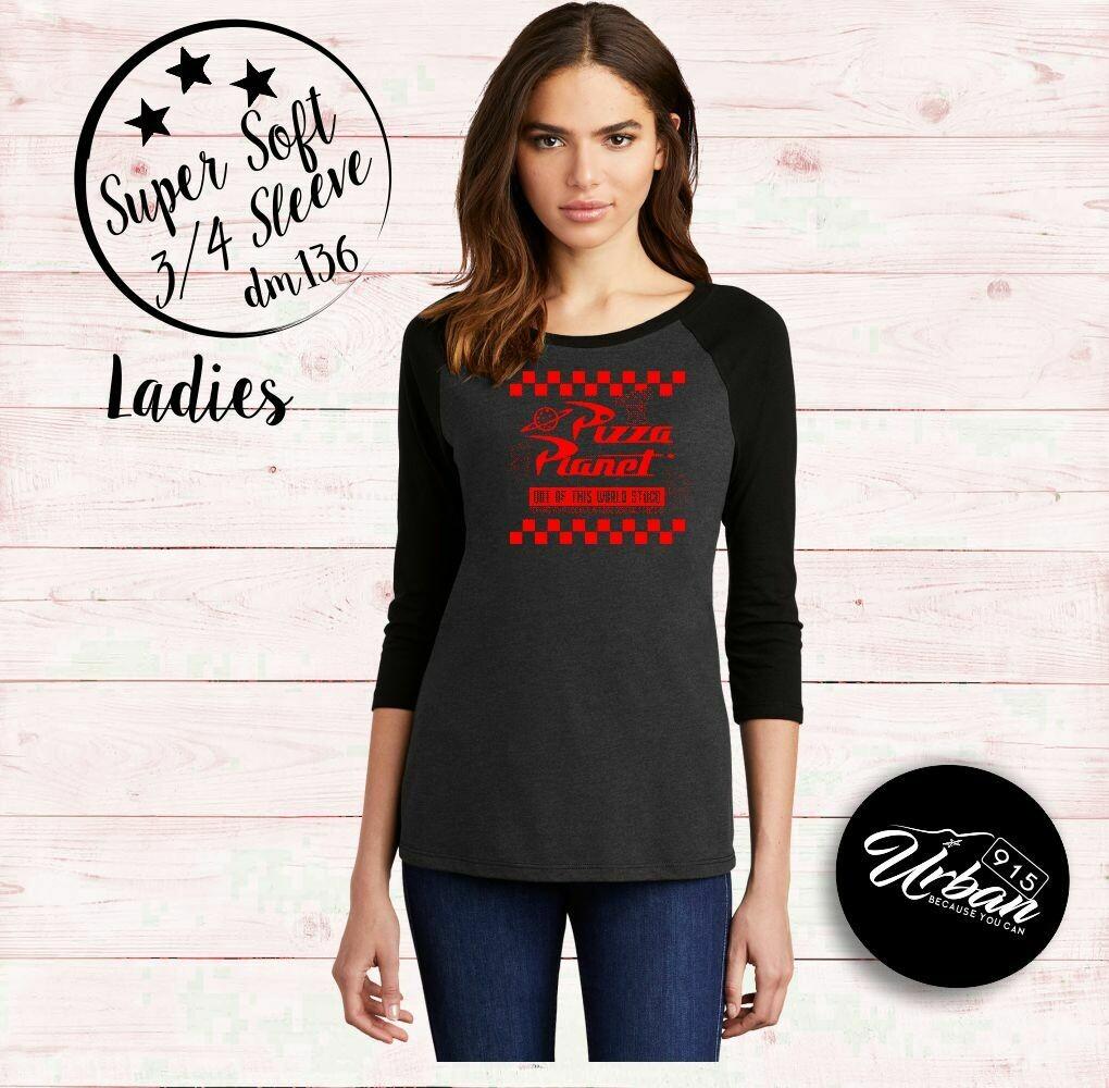 Stuco Ladies Sun Ridge 3/4 Sleeve Super Soft Black Heather Tee