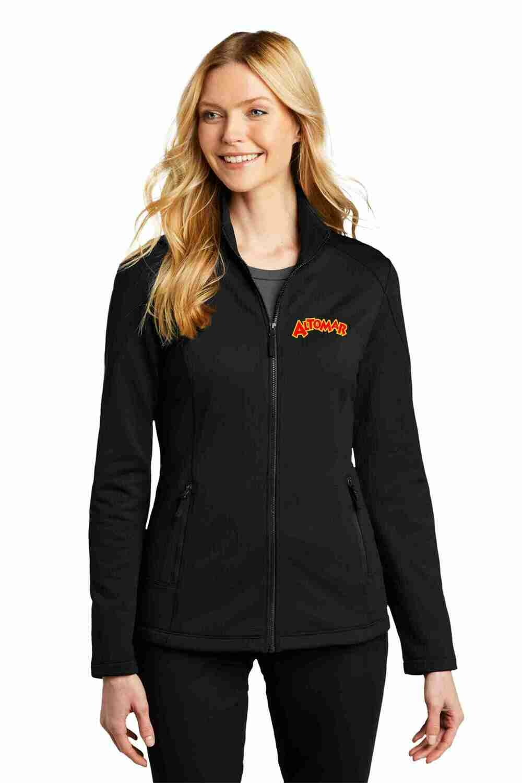 Altomar Deep Black Grid Fleece Jacket