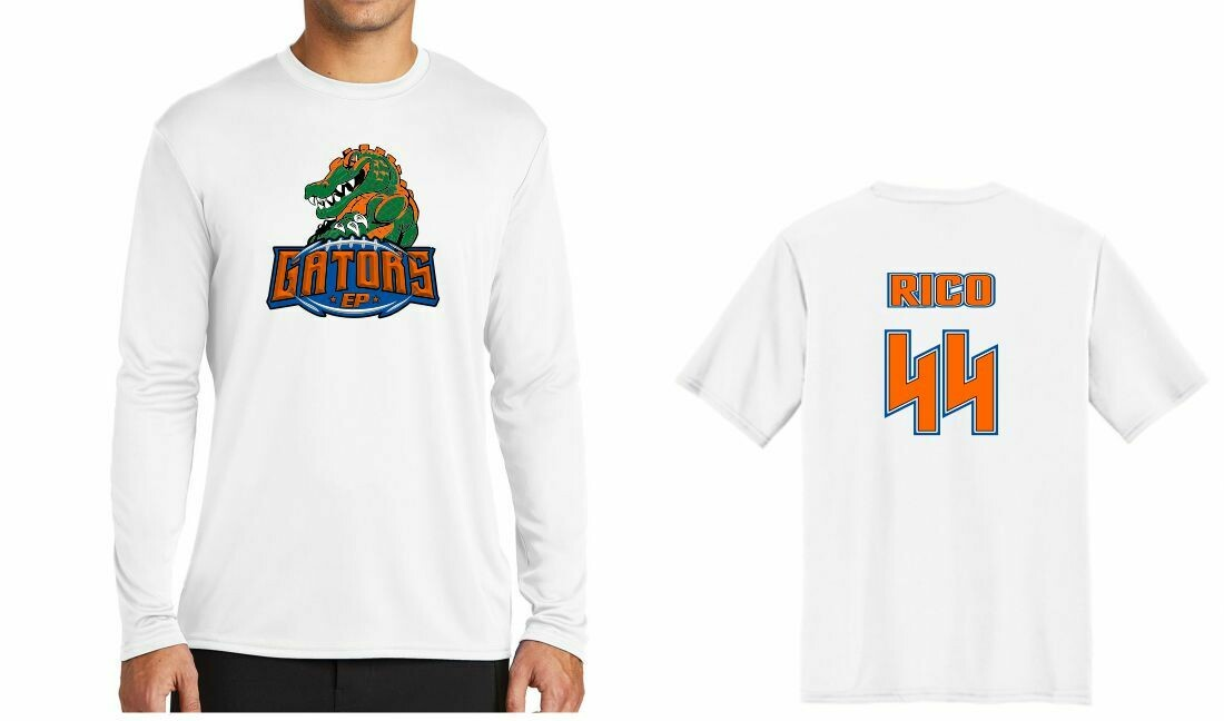 EP GATOR TEAM  AND FAN WHITE LONG SLEEVE SHIRTS