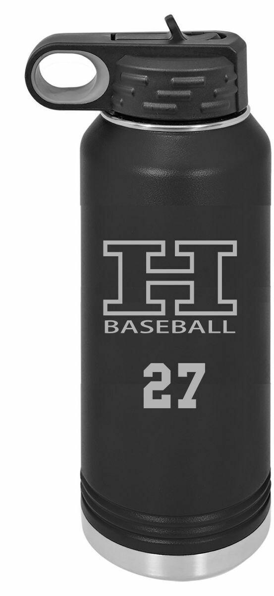 Hanks Middle School Custom text Water bottle Laser Engraved