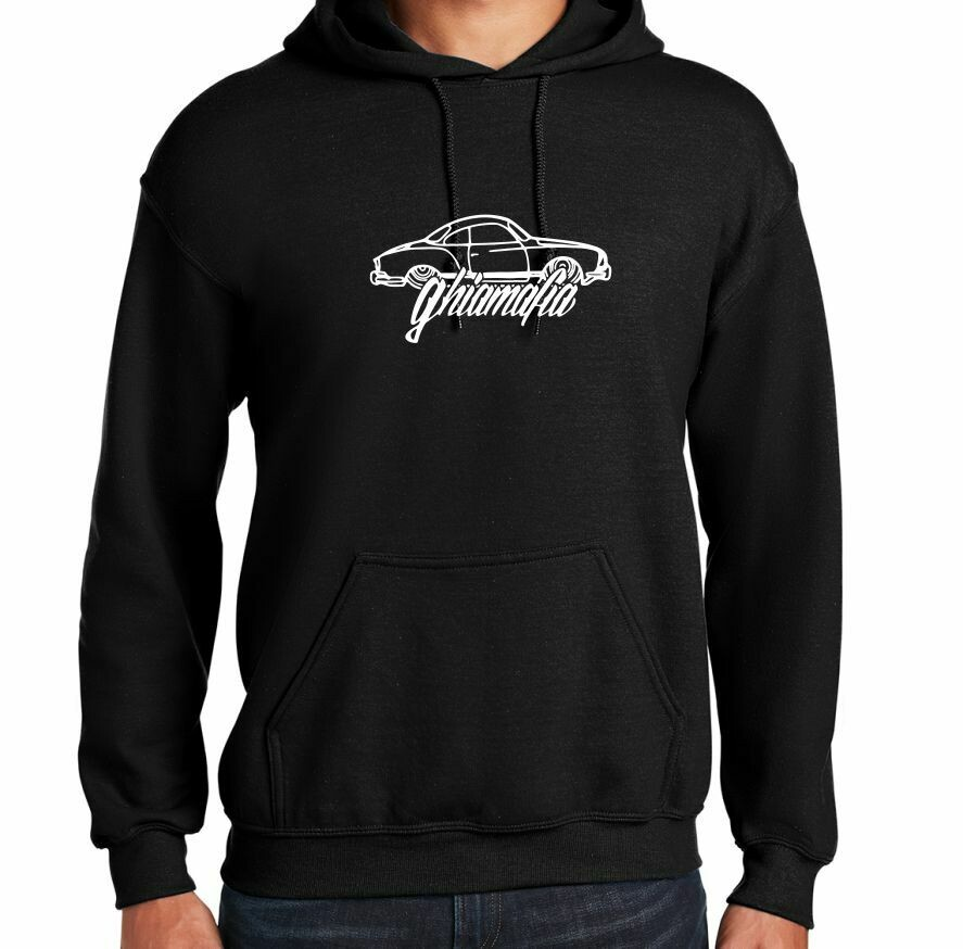 Ghiamafia Black heavy hoodie