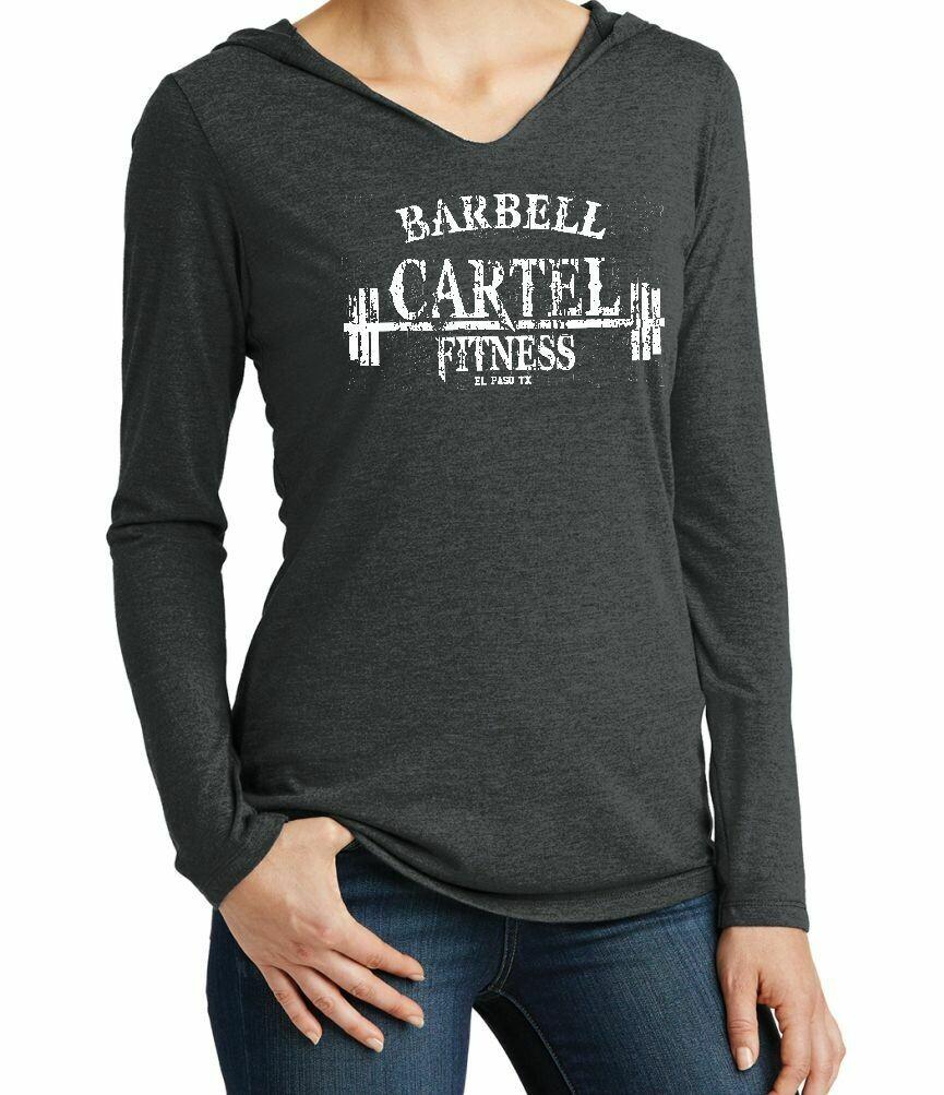Barbell Cartel Super Soft Fashion Hooded Ladies' V-neck Tshirt