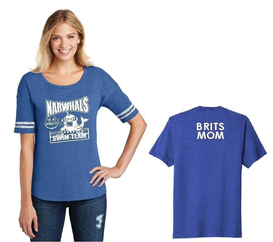 VARSITY STYLE  Narwhal Royal blue soft shirt CREW NECK SHIRTS