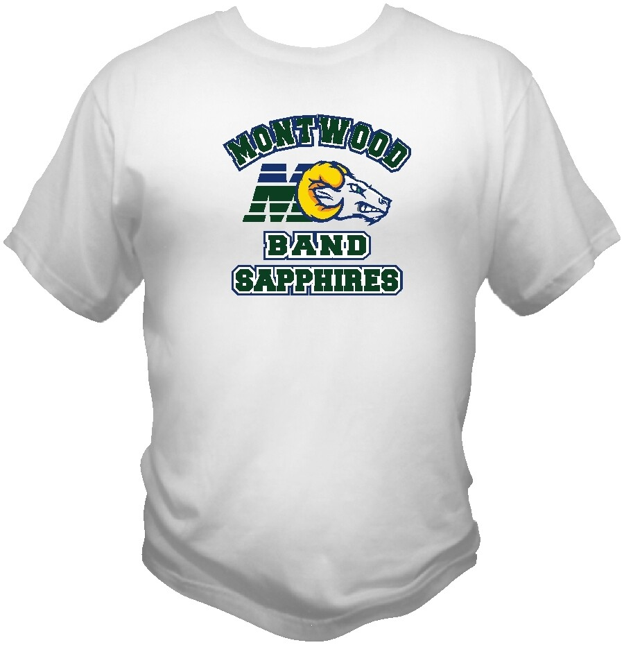 Montwood Sapphires Band Fan Shirt Chustom Printed.