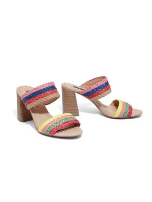 Alice & Olivia Leeda Rainbow Block Heel