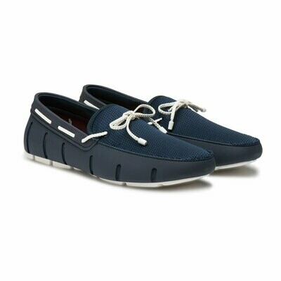 SWIMS Braided Lace Loafer in Blue and White