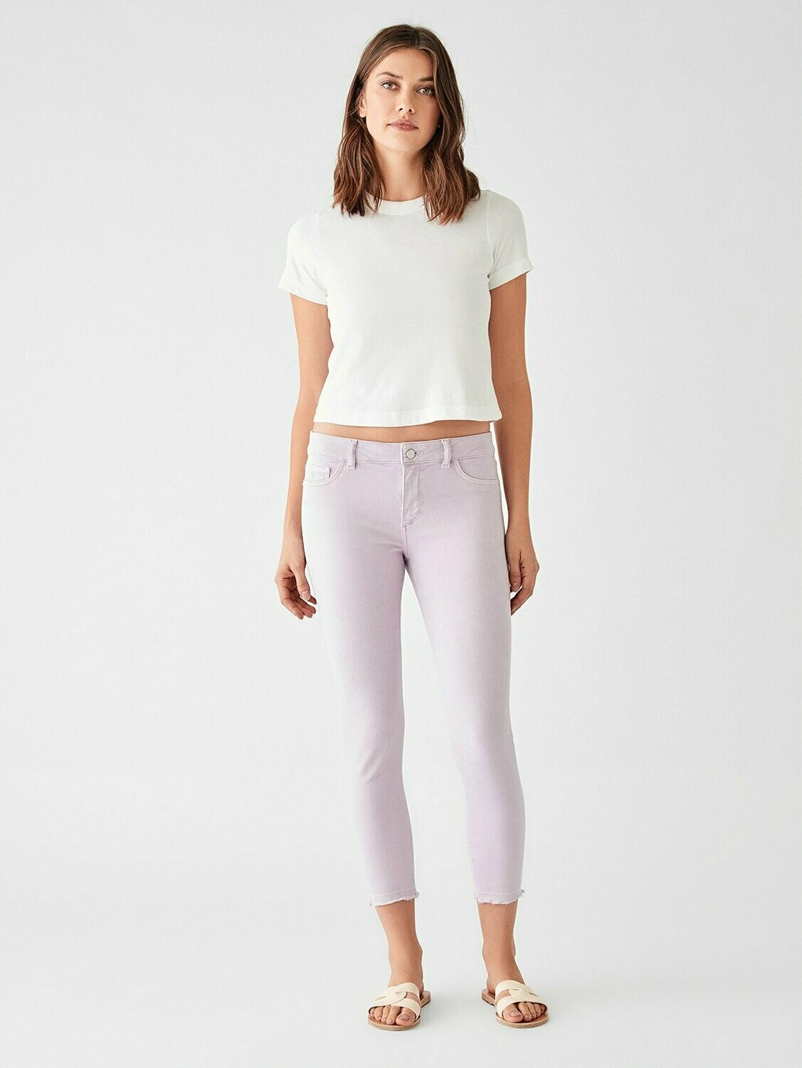 DL 1961 Florence Crop Mid Rise Skinny in Orchid