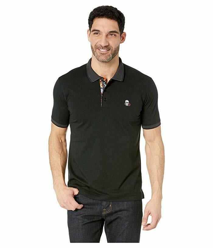 Robert Graham Easton Polo Shirt In Black