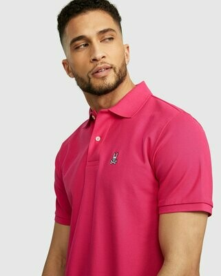 Psycho Bunny Mens Classic Polo in Pink