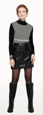 Escada Checkerboard Skirt in Black