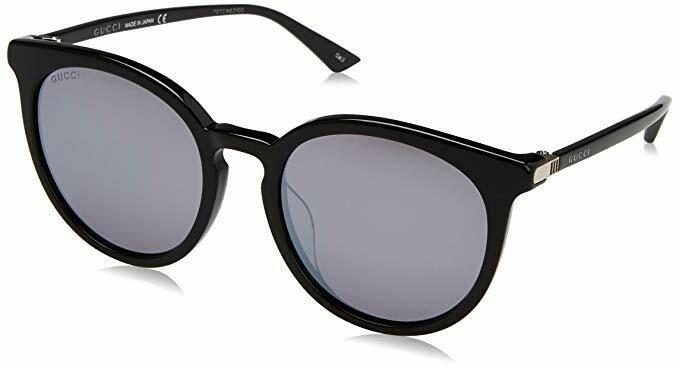 Gucci Black Sunglasses With Silver Mirror Lenses