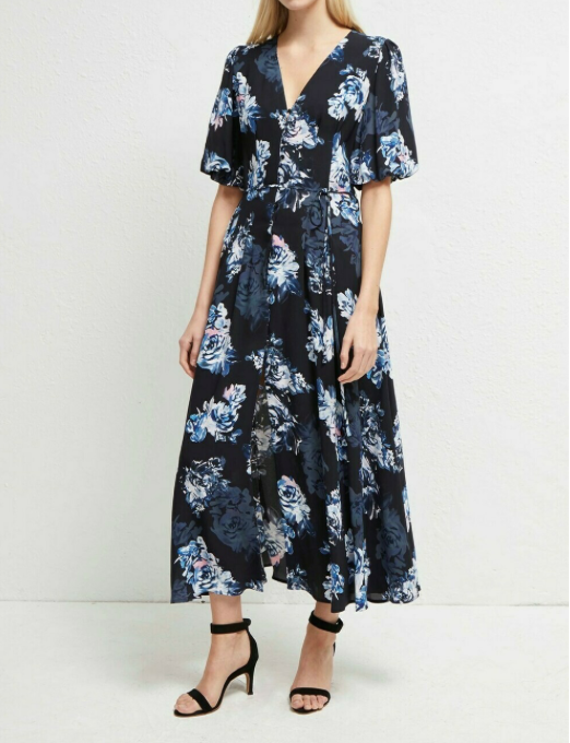 French Connection Caterina Crepe Midi Dress