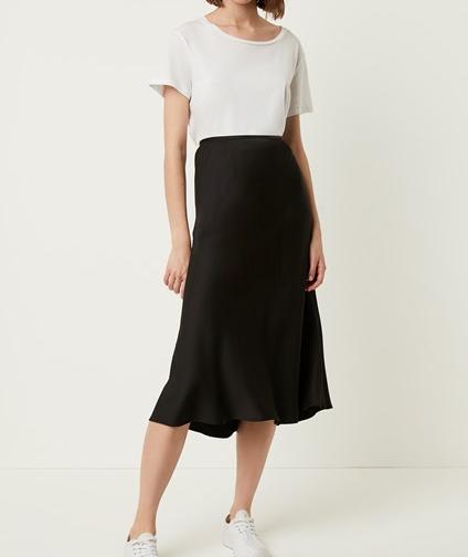 French Connection Alessia Satin Midi Skirt
