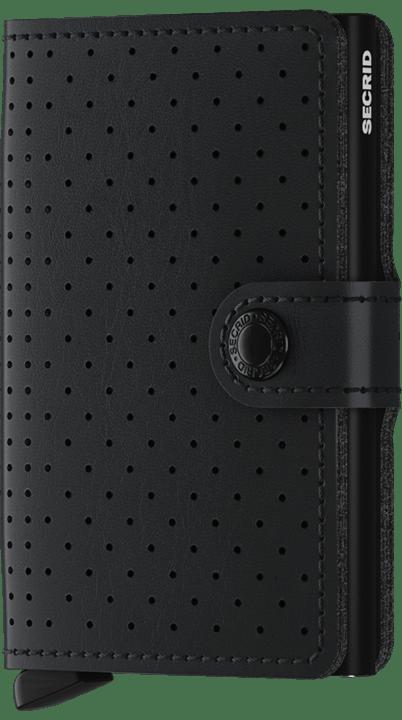 Secrid Miniwallet in Perforated Black