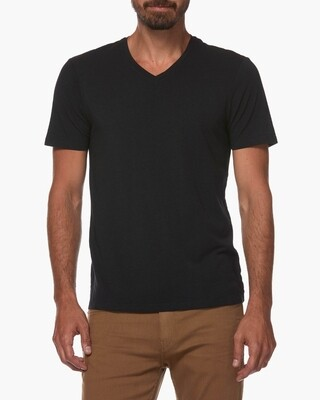 Paige Grayson V Neck Tee Shirt in Black