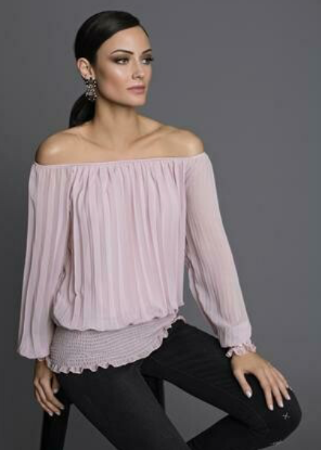 Frank Lyman Off The Shoulder Blouse In Blush