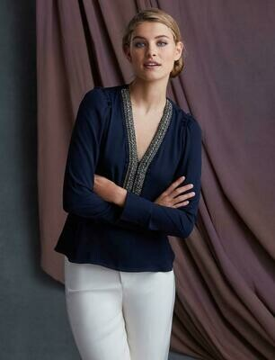 Bailey 44 Dalia Embellished Top In Twilight