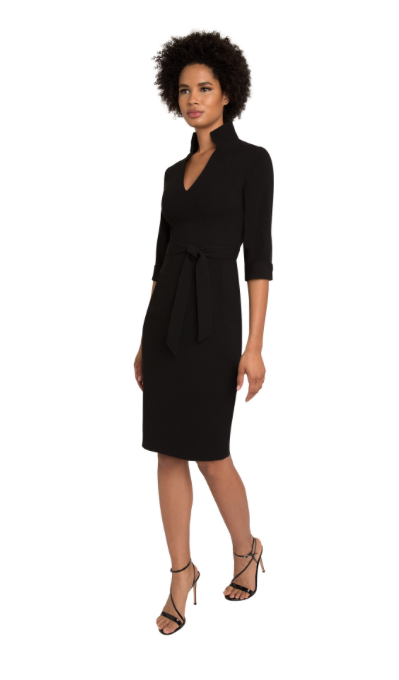 Black Halo Madeline Sheath Dress With Tie in Black