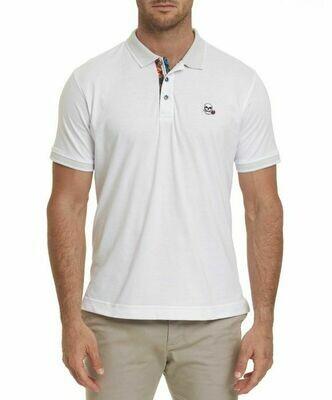 Robert Graham Easton Polo Shirt In White