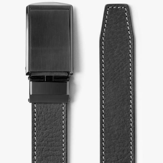 Slide Belt Ash Full Grain Leather Belt w/ Gunmetal Belt