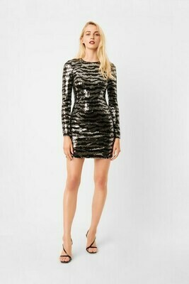 French Connection Ebba Tiger Long Sleeve Mini Dress