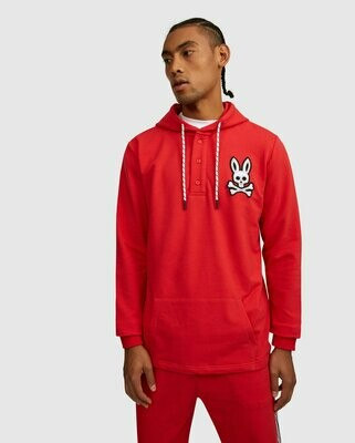 Psycho Bunny Mens Epworth Hoodie - Brilliant Red