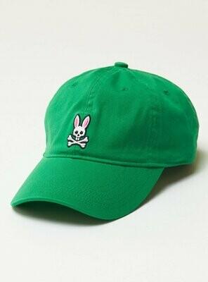 Psycho Bunny Mens Core Sunbleached Baseball Cap - Green