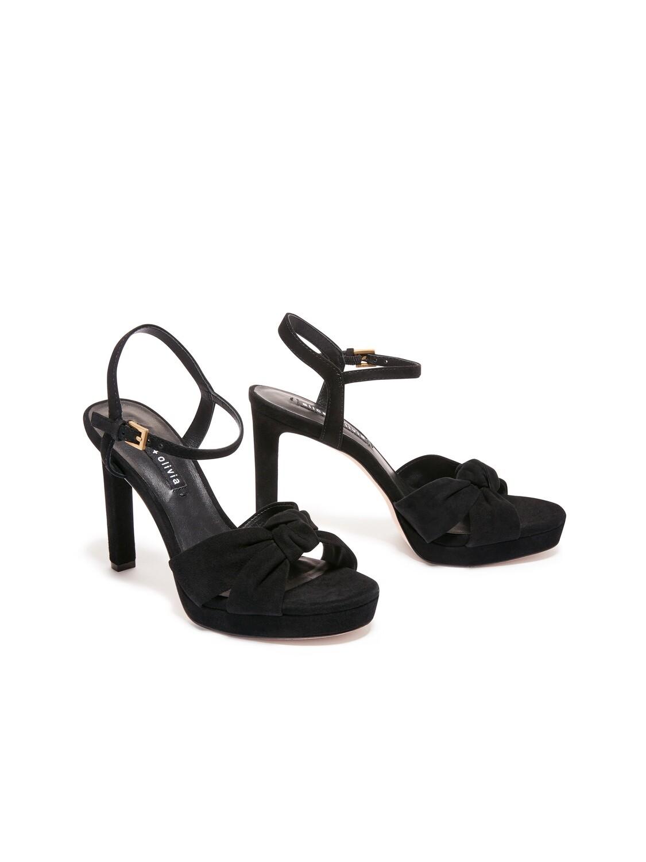Alice & Olivia Bailee Open Toe Heel In Black