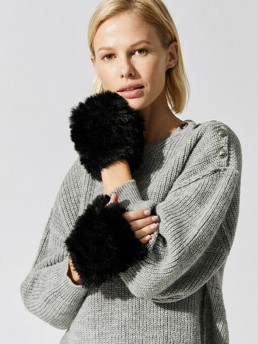 Jocelyn  Faux Fur Mandy Mittens