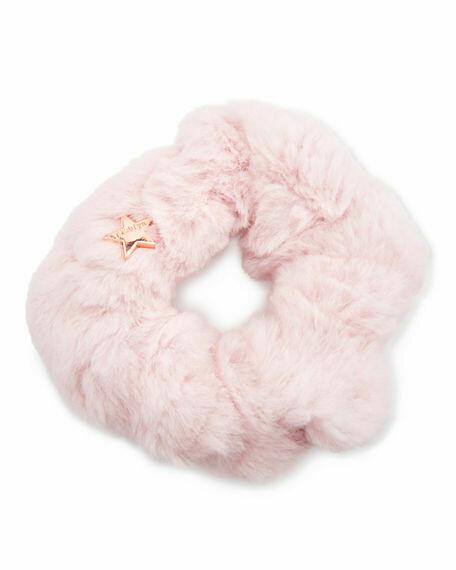 Jocelyn Sheared Rabbit Fur Scrunchie Lilac
