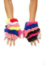 Jocelyn Faux Fur Mittens