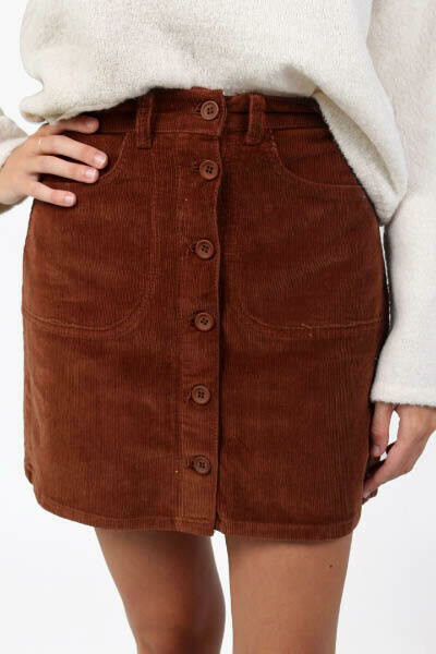 French Connection Manzu Cord Skirt