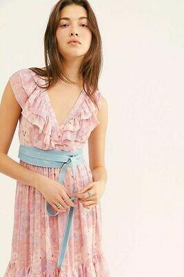 Ada Wrap Belt in French Blue