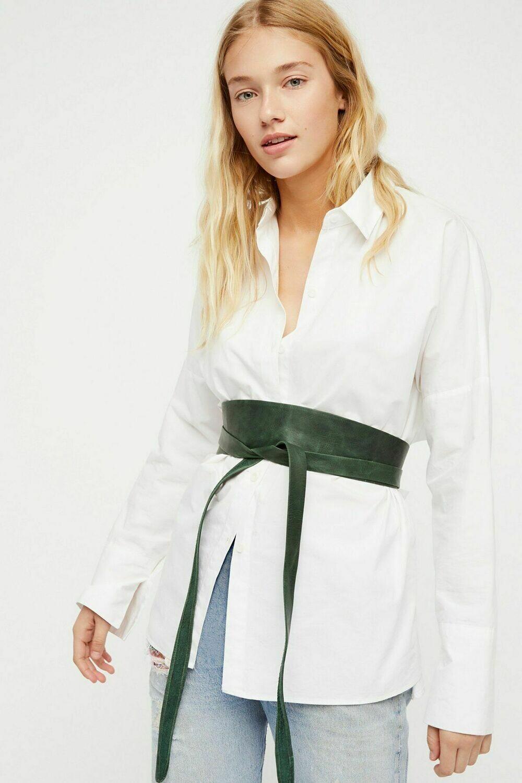 Ada Wrap Belt in Forest Green