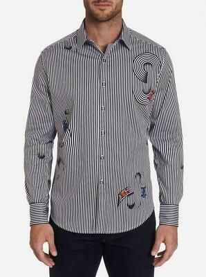 Robert Graham Chicane Sport Shirt In Black