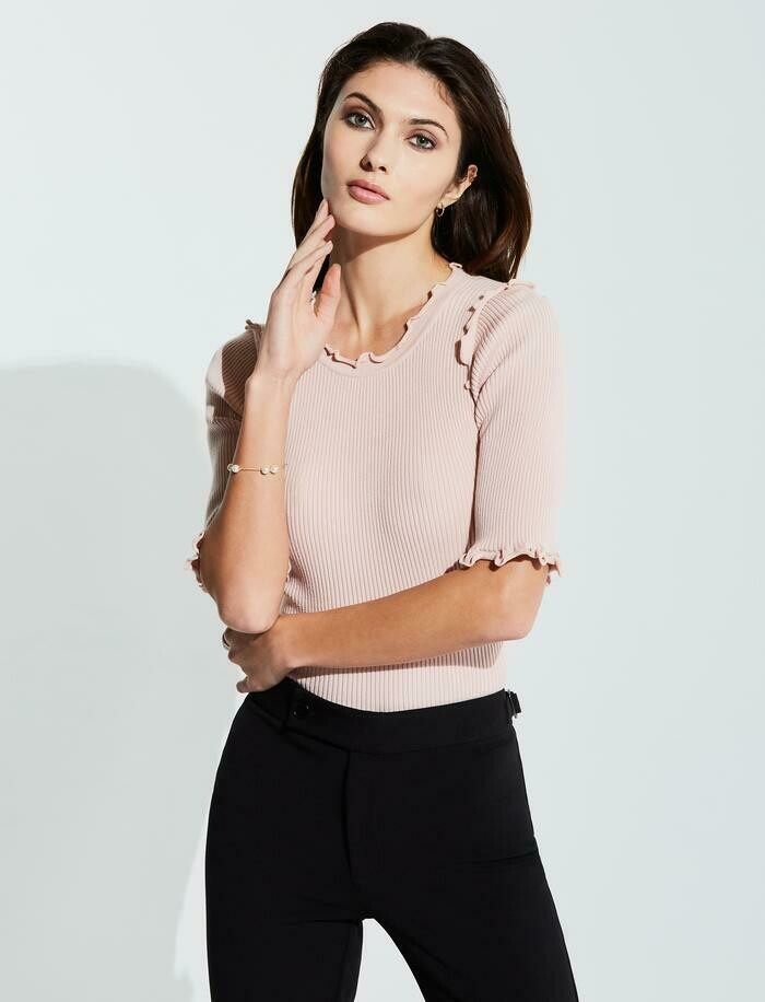 Bailey 44 Ondine Sweater Top In Pink