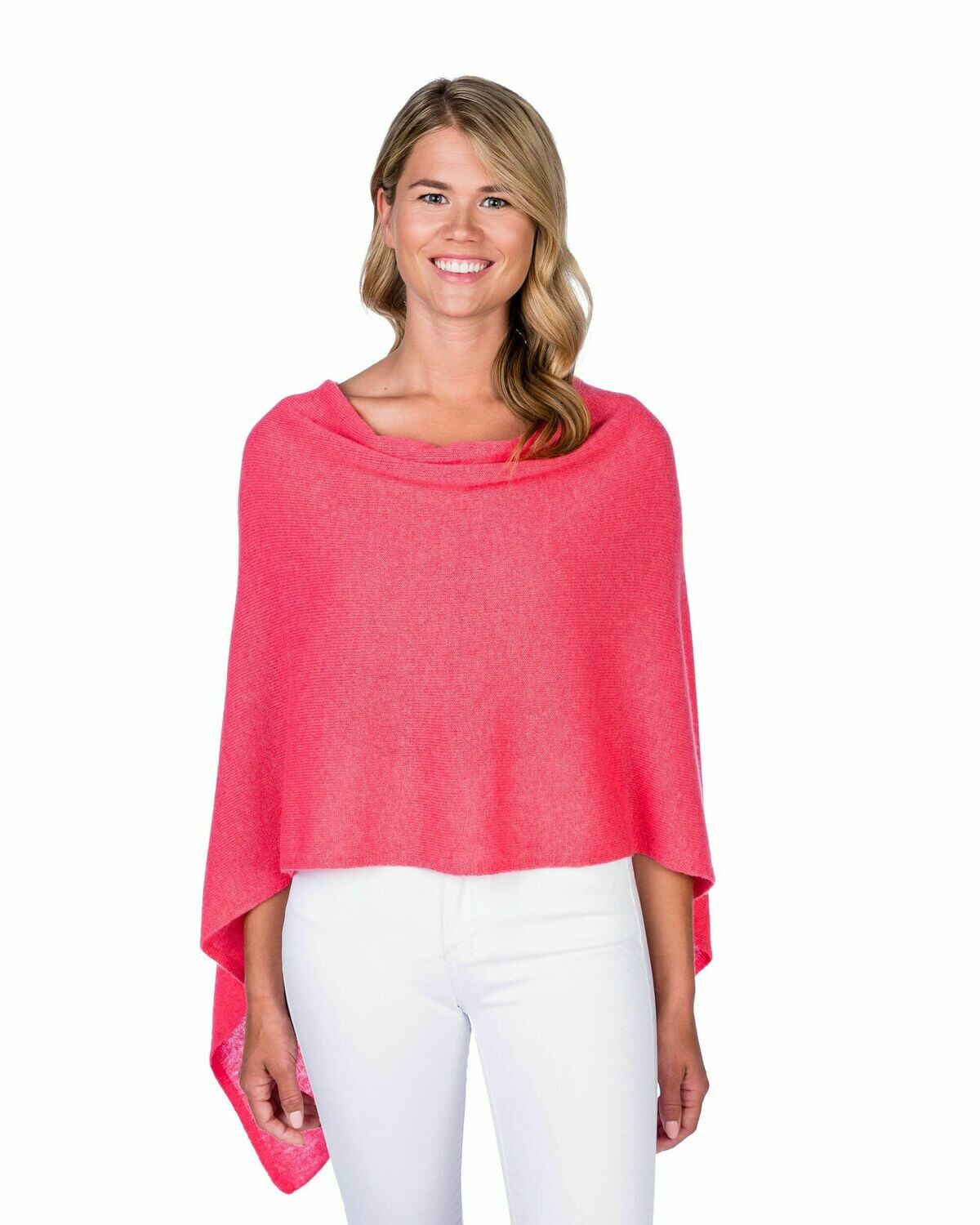 Jackie Z Cashmere Dress Topper in Coral Reef