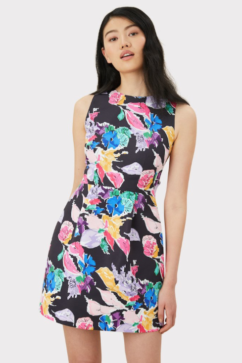 Milly Bouquet Faille Anabelle Dress in Floral