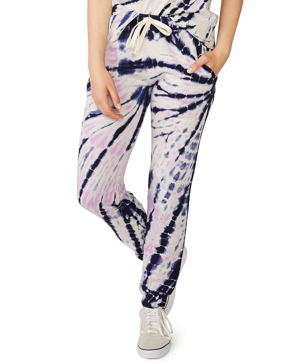 Monrow Bamboo Burst Tie Dye Girlfriend Sweatpants
