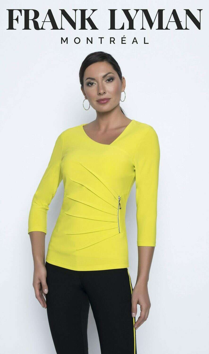 Frank Lyman Fitted Top in Apple