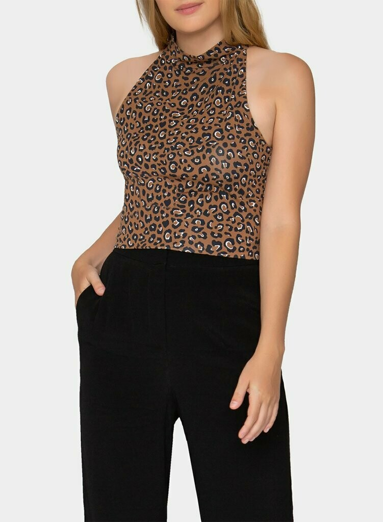 Tart Collections Melody Top in Warm Leopard