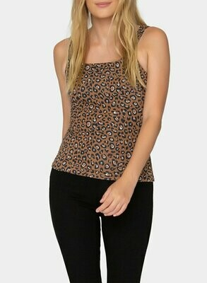 Tart Collections Larson Top in Warm Leopard