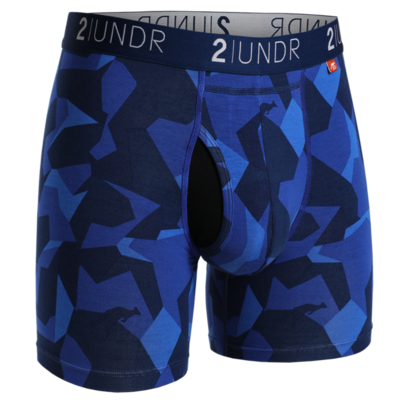 2UNDR Swing Shift - 6IN BOXER BRIEF In Blue Camo