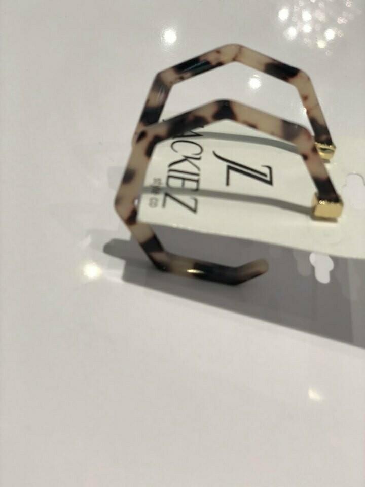 Jackie Z Earrings in Tortoise Shell